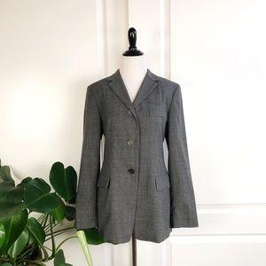Jil Sander Gray Three Button Front Wool Blazer